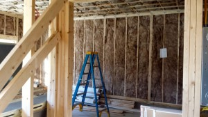 Insulation and framing - construction progress