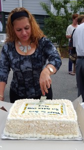A Dream Cake in honor of David Higgins' dream - ending hunger in our community.